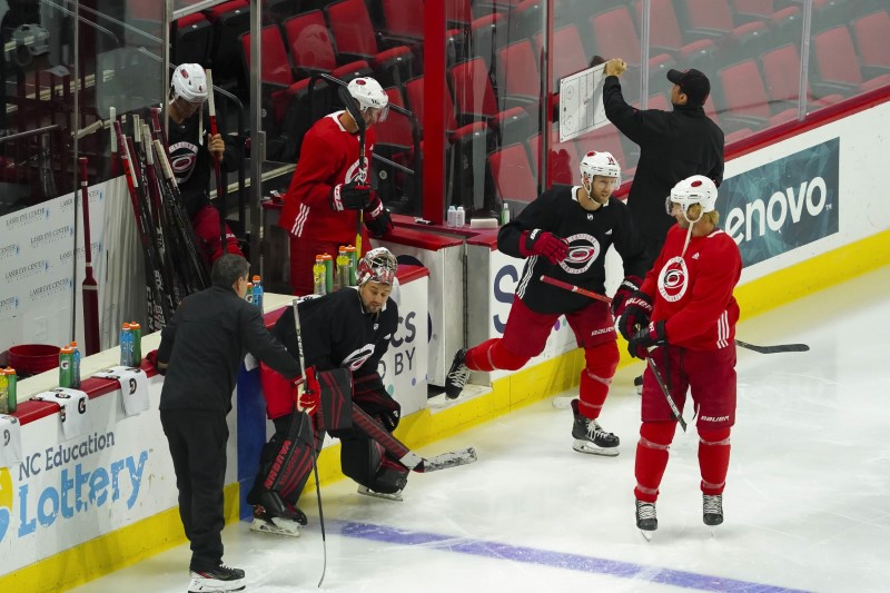 NHL: Carolina Hurricanes-Workouts