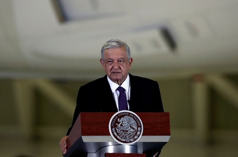 Mexico's President Lopez Obrador holds a news conference in Mexico City
