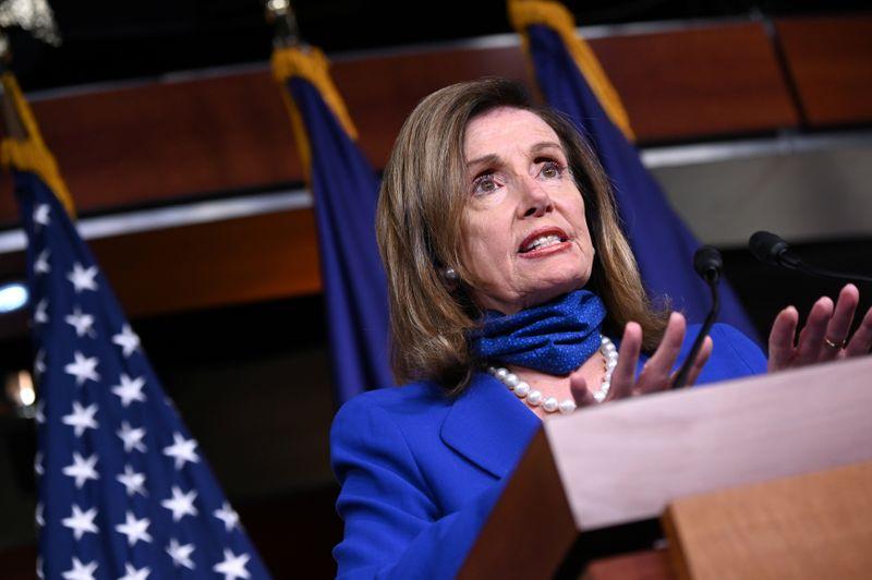 U.S. House Speaker Nancy Pelosi speaks at a news conference in the U.S. Capitol in Washington