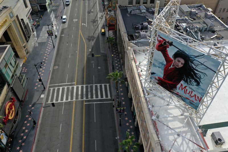 FILE PHOTO: A poster of the Walt Disney Studios'