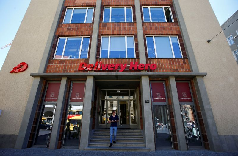 FILE PHOTO: The Delivery Hero headquarters is pictured in Berlin