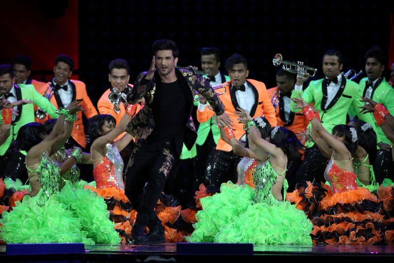 FILE PHOTO: Bollywood actor Sushant Singh Rajput performs at the IIFA show in East Rutherford