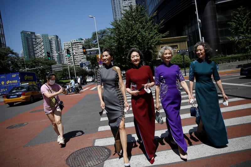 Elderly model group