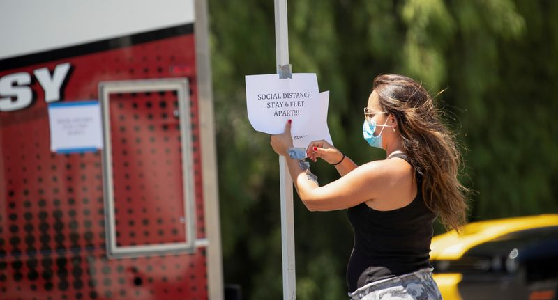 FILE PHOTO: The outbreak of the coronavirus disease (COVID-19) in Pomona