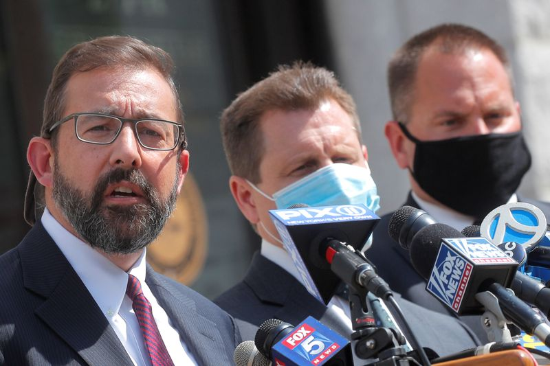 Seth DuCharme, acting U.S. Attorney for the Eastern District, speaks during news conference in New York