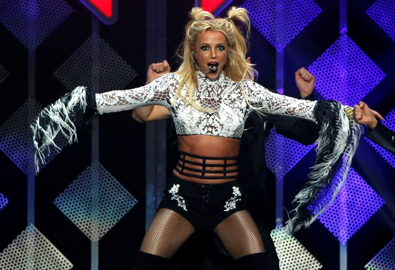 FILE PHOTO: Spears performs at iHeartRadio Jingle Ball concert at Staples Center in Los Angeles