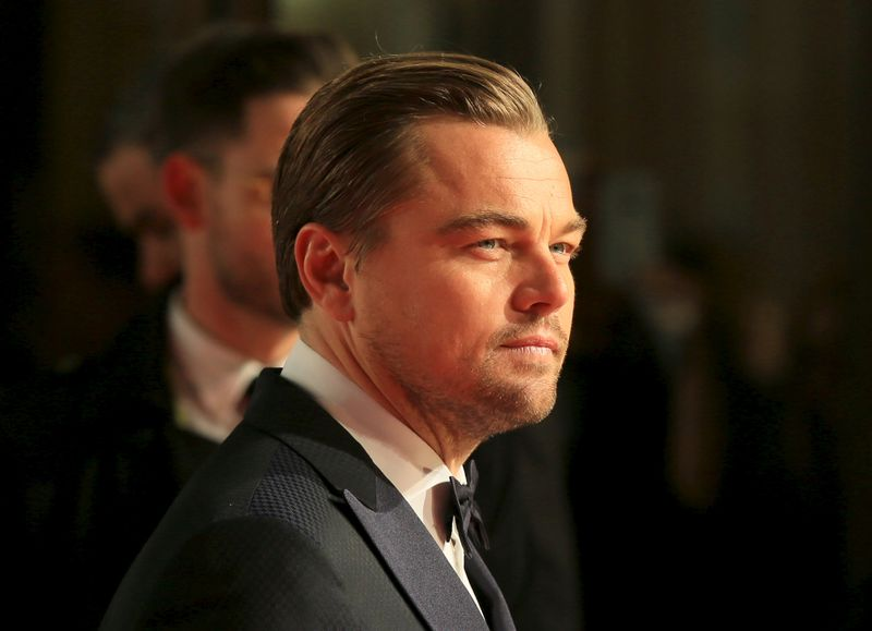 Actor Leonardo Di Caprio arrives at the British Academy of Film and Television Arts (BAFTA) Awards at the Royal Opera House in London