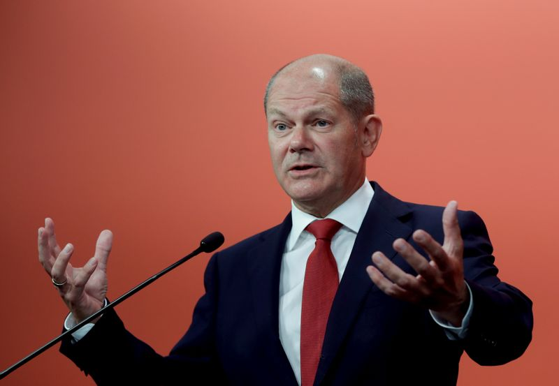 German Finance Minister and Vice-Chancellor Scholz attends a news conference in Vienna
