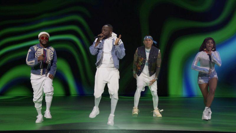 The Black Eyed Peas perform during the 2020 MTV VMAs