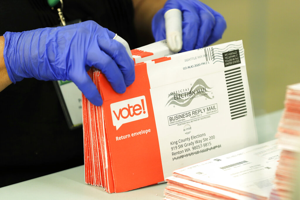 US Postal Service warns of risk of delay for mail-in votes