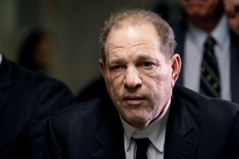 FILE PHOTO - Film producer Harvey Weinstein departs Criminal Court in New York