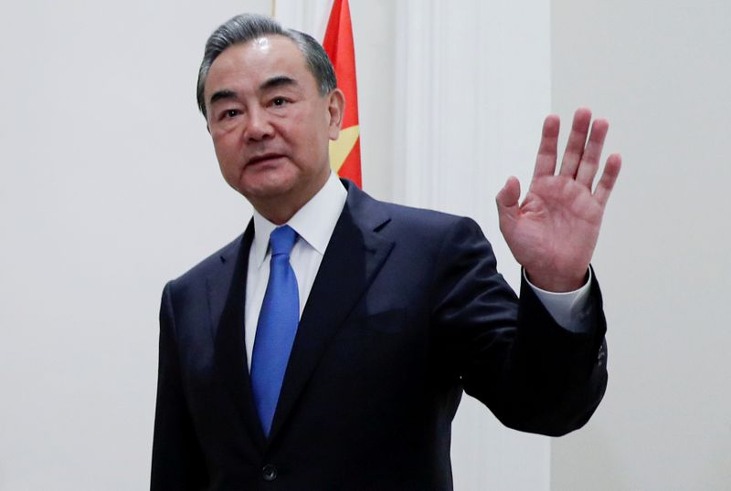 FILE PHOTO: China's State Councillor Wang Yi meets Canada's FM Francois-Philippe Champagne in Rome