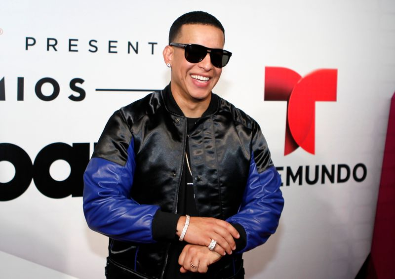 FILE PHOTO:  Daddy Yankee poses backstage at the 2015 Latin Billboard Awards in Coral Gables
