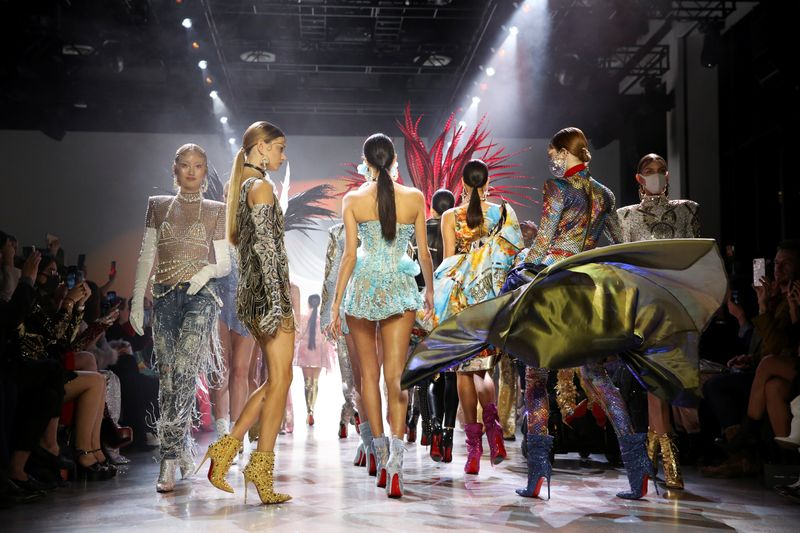 FILE PHOTO: Models present creations from the Blonds Fall 2020 collection during New York Fashion Week