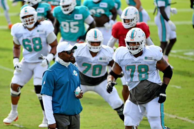 FILE PHOTO: NFL: Miami Dolphins-Training Camp