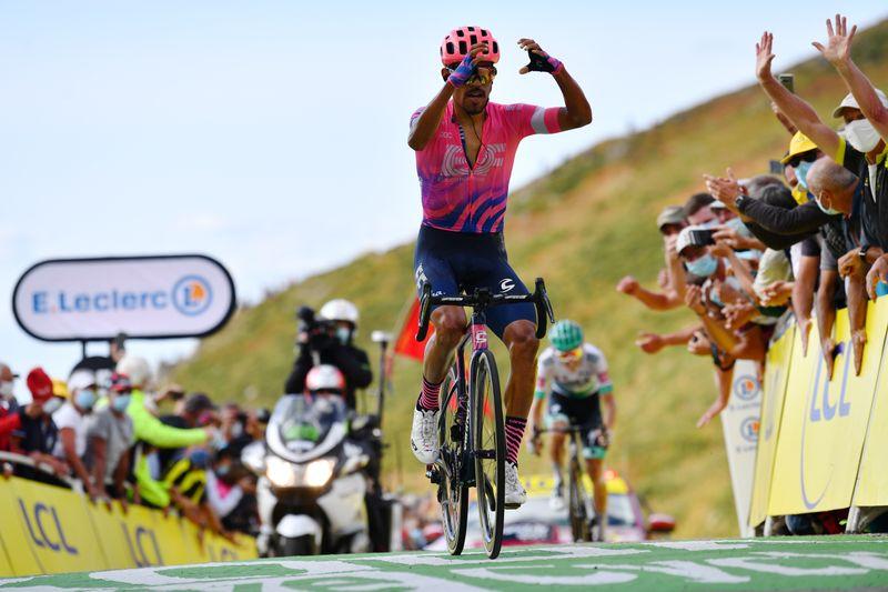 Roglic tightens grip on Tour as Martinez wins mountain struggle