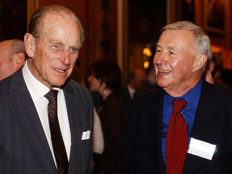 FILE PHOTO: Britain's Duke of Edinburgh meets designer and restaurateur Conran at design reception in London