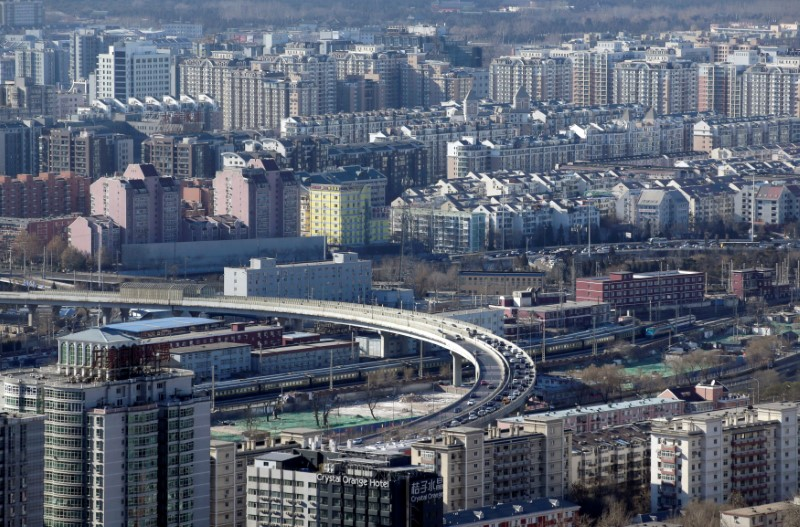 FILE PHOTO: Residential buildings are seen in Beijing