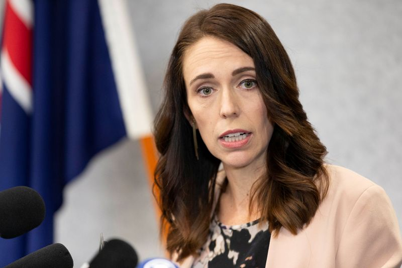 FILE PHOTO: New Zealand Prime Minister Jacinda Ardern during a news conference in Christchurch