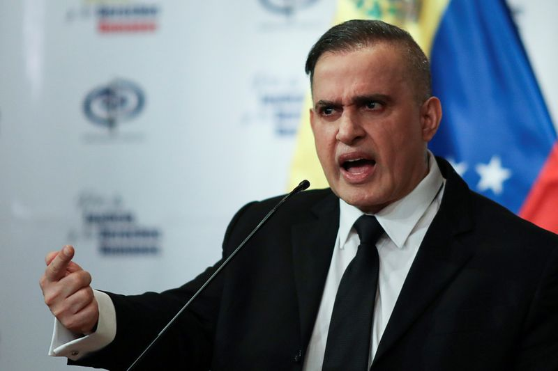 FILE PHOTO: Venezuela's chief prosecutor Tarek William Saab holds a news conference