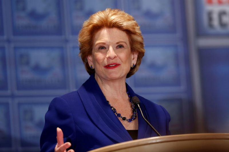 FILE PHOTO: Democratic U.S. Senator Debbie Stabenow addresses the Detroit Economic Club in Detroit