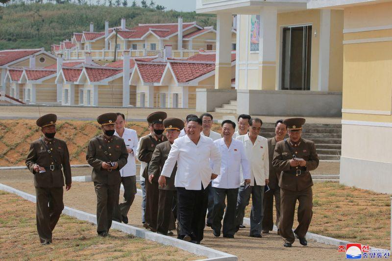 North Korea's leader Kim Jong Un inspects Kangbuk-ri