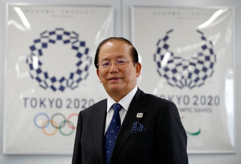 Toshiro Muto, Tokyo 2020 Organizing Committee Chief Executive Officer, poses for a photograph during an interview with Reuters in Tokyo