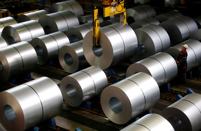 FILE PHOTO: FILE PHOTO: ThyssenKrupp steel factory in Duisburg