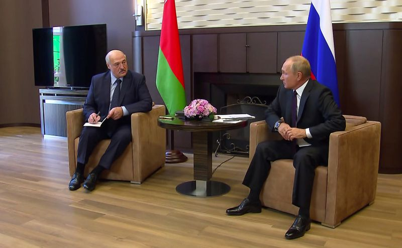 Russia's President Putin meets with his Belarusian counterpart Lukashenko in Sochi