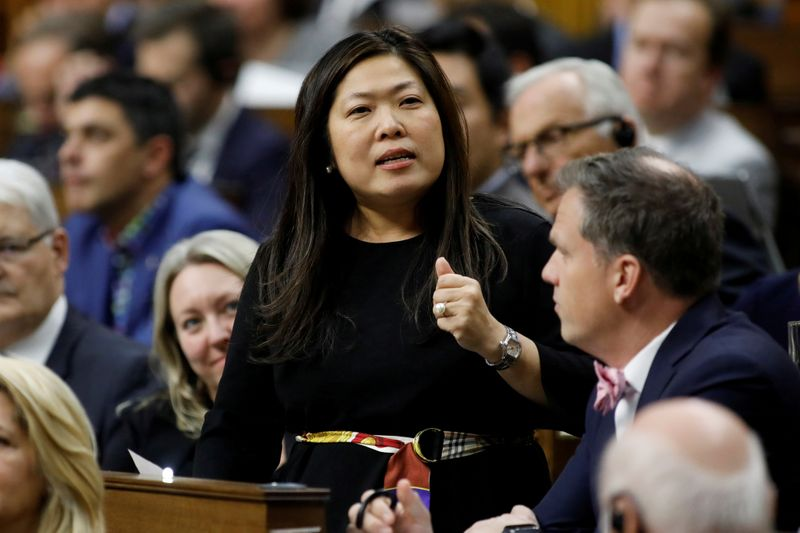 FILE PHOTO: Canada's Minister of Small Business, Export Promotion and International Trade Mary Ng speaks during Question Period in the House of Commons on Parliament Hill in Ottawa