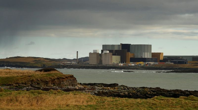 FILE PHOTO: General view of the decommissioned Wylfa nuclear power station on the island of Anglesey