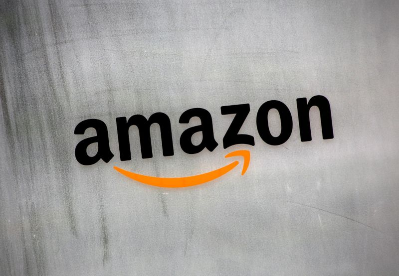 FILE PHOTO: Amazon.com's logo is seen at Amazon Japan's office building in Tokyo