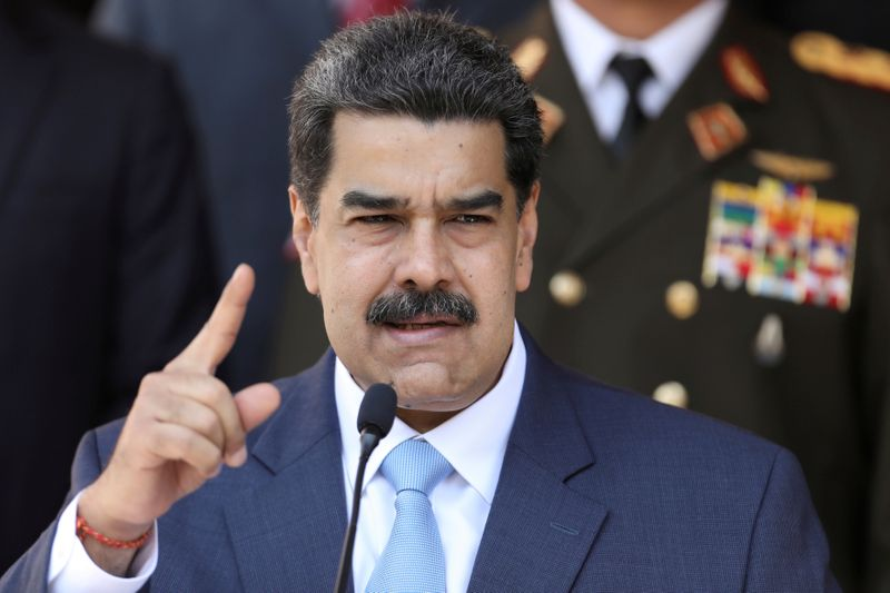 FILE PHOTO: FILE PHOTO: Venezuela's President Maduro holds a news conference at Miraflores Palace in Caracas