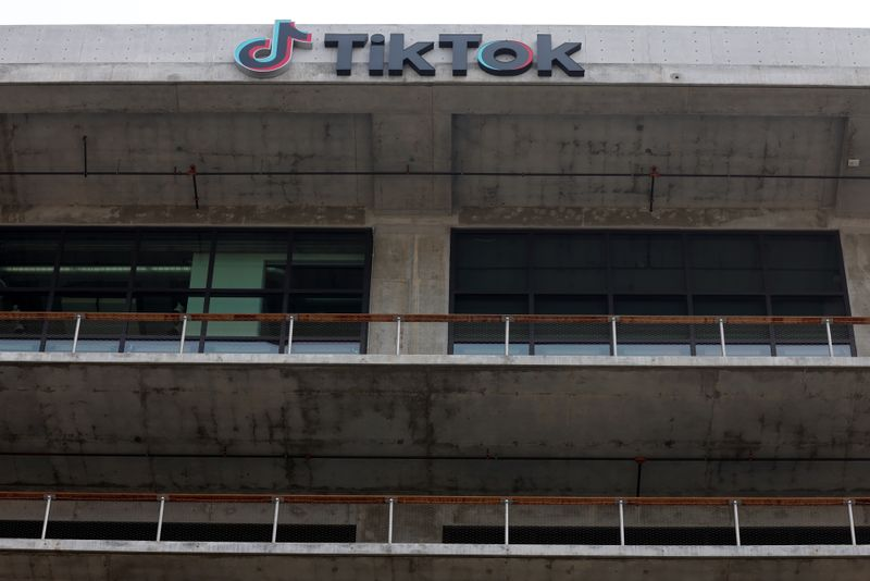FILE PHOTO: TikTok head office in United States
