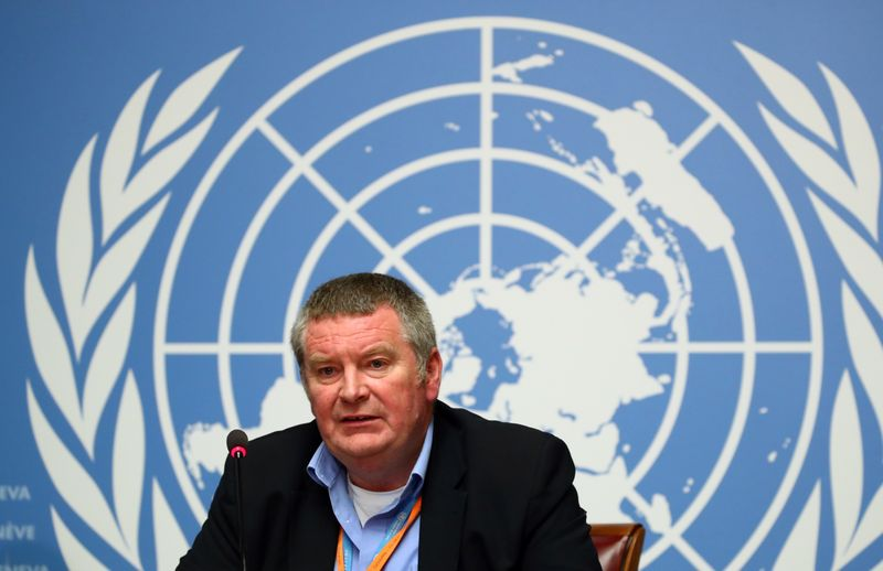 FILE PHOTO: Ryan, Executive Director of the WHO attends a news conference on the Ebola outbreak at the United Nations in Geneva