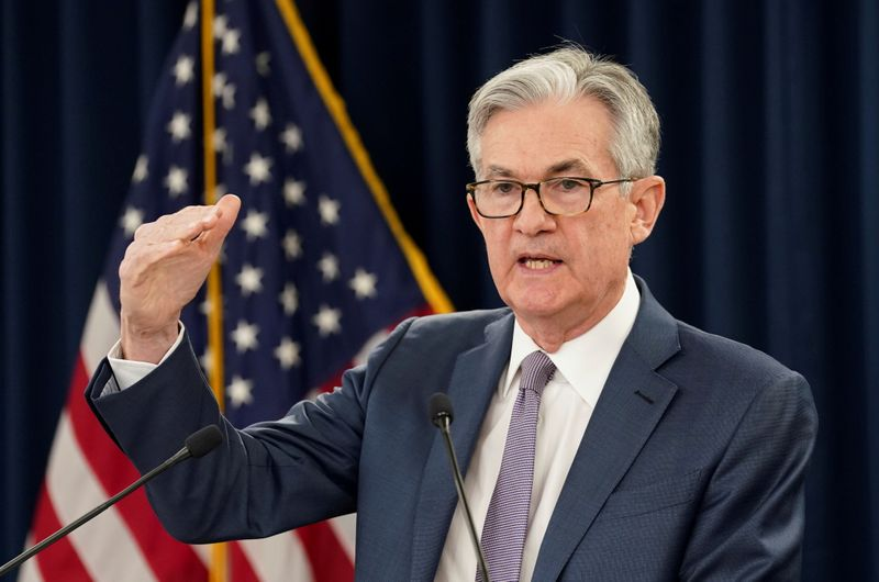 FILE PHOTO: U.S. Federal Reserve Chairman Jerome Powell  speaks in Washington