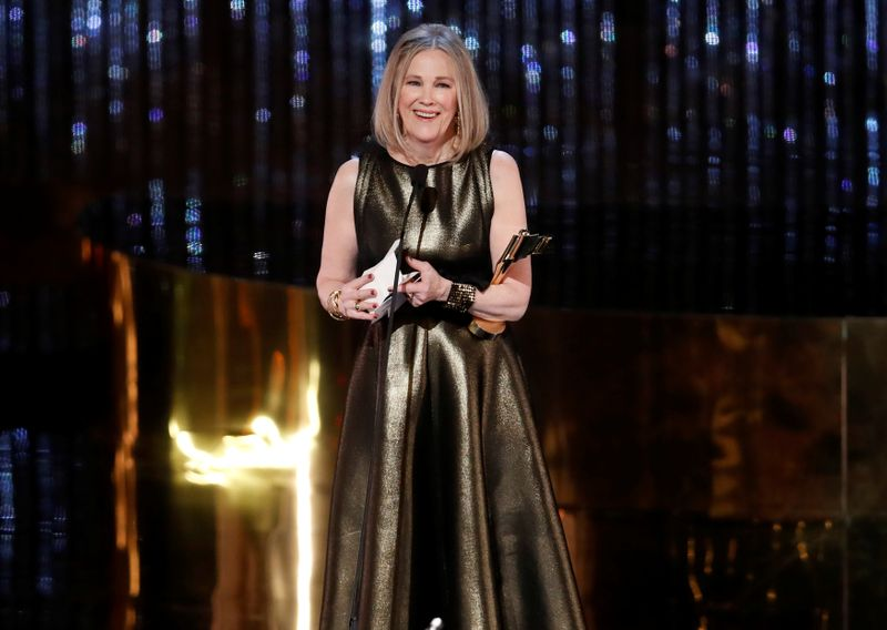 FILE PHOTO: Catherine O'Hara wins the award for best actress during the Canadian Screen Awards in Toronto