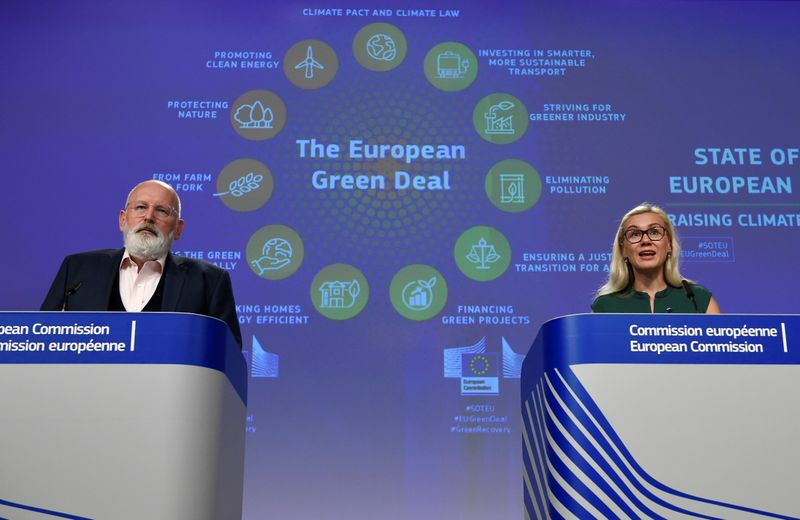 Joint press conference on the EU's climate ambition for 2030 at the EU headquarters in Brussels