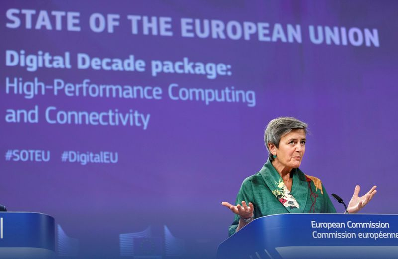 News conference on regulation on high performance computing and connectivity in Brussels