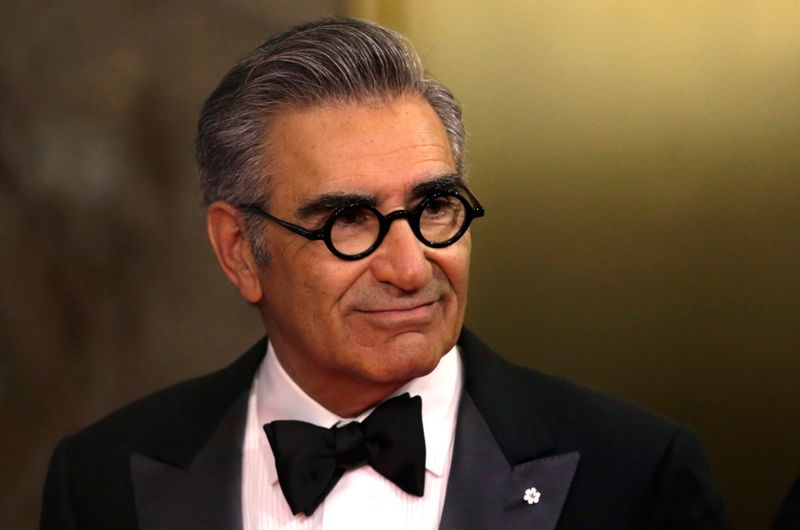 Eugene Levy arrives on the red carpet at the 7th annual Canadian Screen Awards in Toronto, Canada