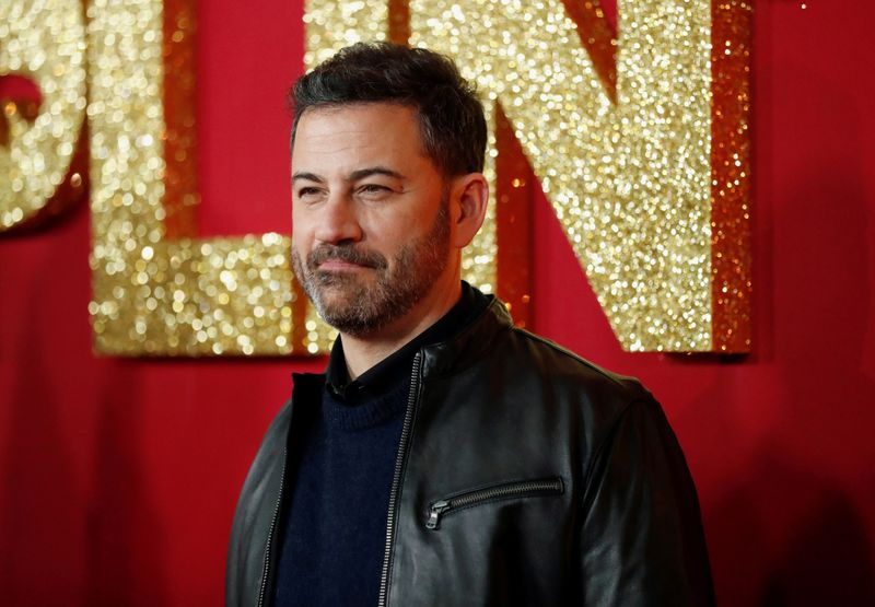 FILE PHOTO: Television host Jimmy Kimmel poses at a premiere for the movie Dumplin' in Los Angeles, California