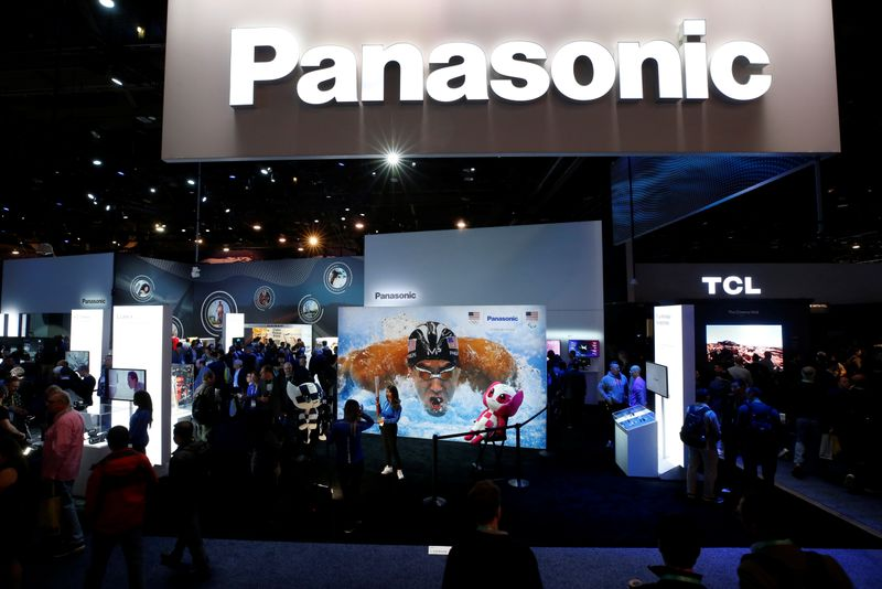 The Panasonic booth is shown during the 2020 CES in Las Vegas
