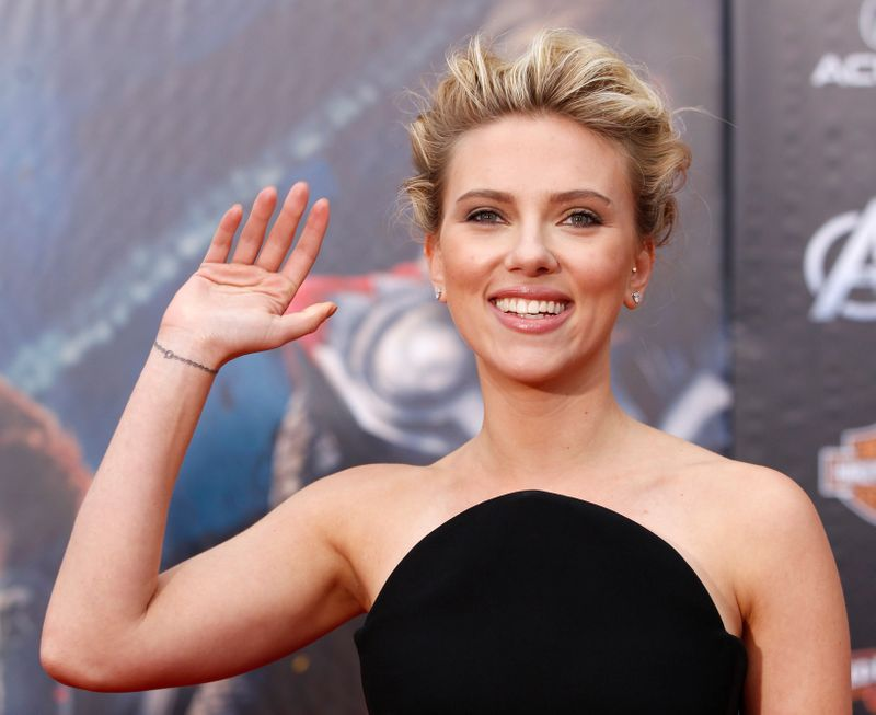 FILE PHOTO: Cast member Scarlett Johansson poses at the world premiere of the film