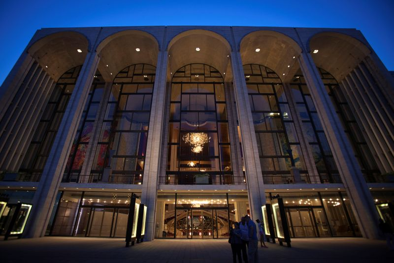 FILE PHOTO: The Metropolitan Opera House is pictured at Lincoln Center in New York