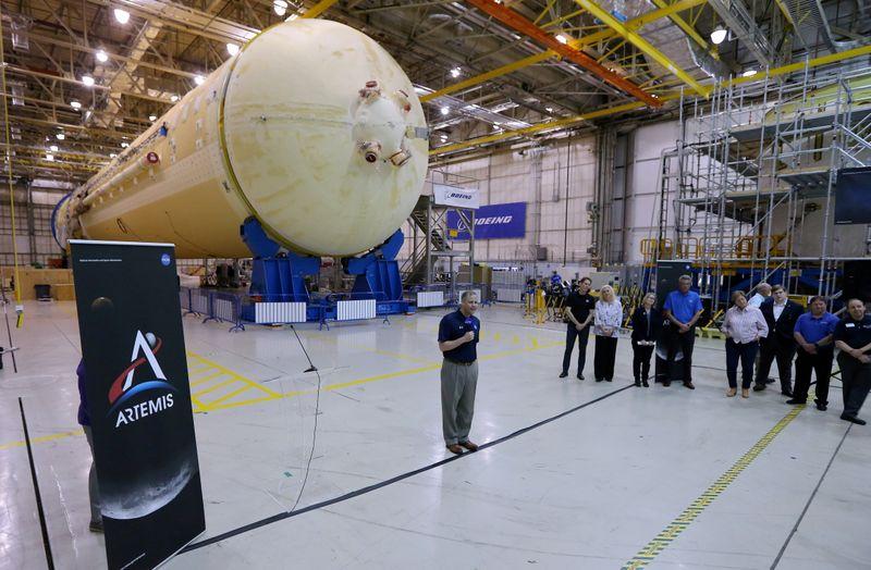 FILE PHOTO: NASA Administrator Jim Bridenstine visits NASA's Michoud Assembly Facility in New Orleans