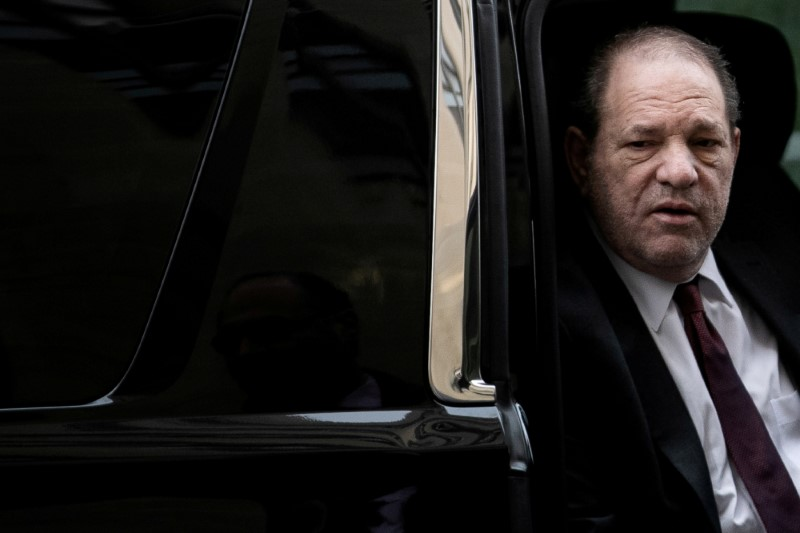 FILE PHOTO: Film producer Harvey Weinstein arrives at New York Criminal Court for his sexual assault trial in the Manhattan borough of New York City