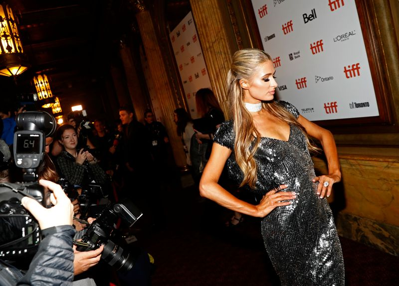FILE PHOTO: Paris Hilton arrives for the world premiere of The Death and Life of John F. Donovan at the Toronto International Film Festival (TIFF) in Toronto