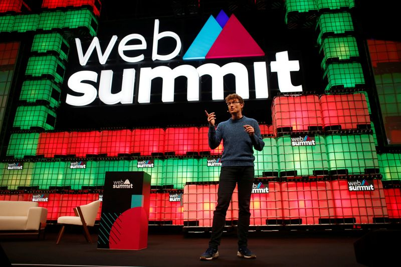 FILE PHOTO:  Web Summit's co-founder Paddy Cosgrave speaks during the inauguration of Web Summit, Europe's biggest tech conference, in Lisbon