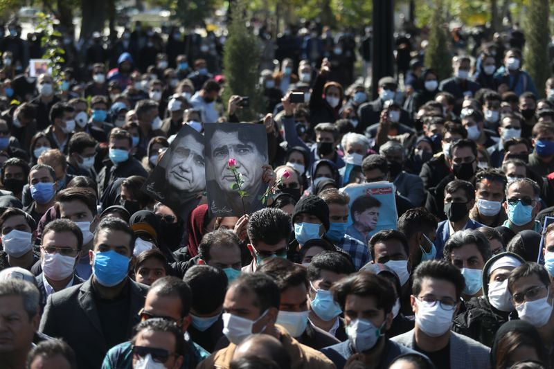 Iranian composer and opposition figure Mohammad Reza Shajarian's funeral, in Tus