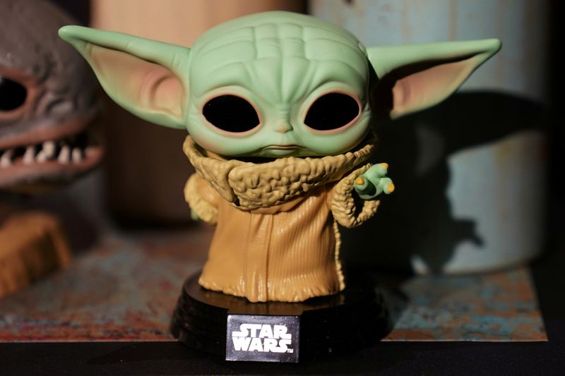 FILE PHOTO: A Baby Yoda toy is pictured during a